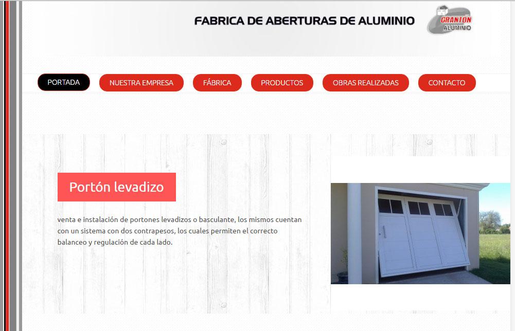 Sitio realizado a medida, con PHP y Mysql para la base de datos, con galería de imágenes